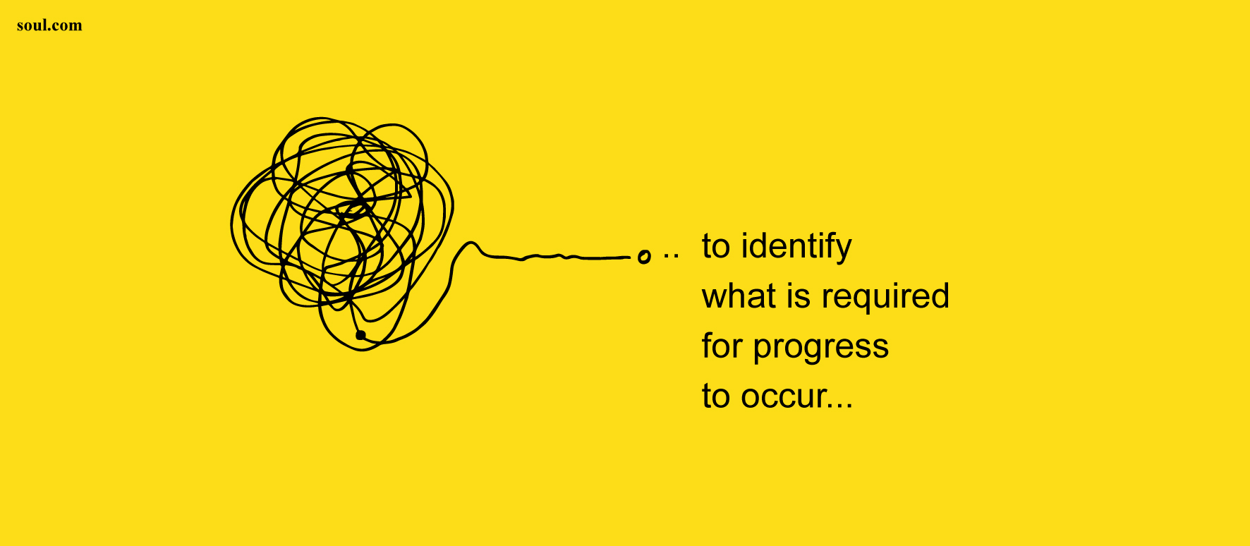 to identify what is required for progress to occur...